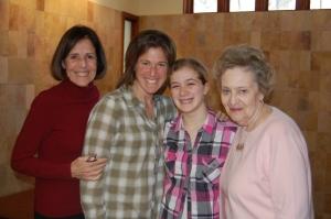 L-R: Nana (Diane), Rebecca, Jessica, Grandma