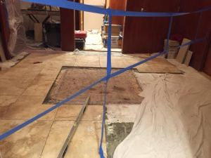 construction in mikveh 2