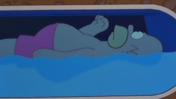 homor simpson in a float tank
