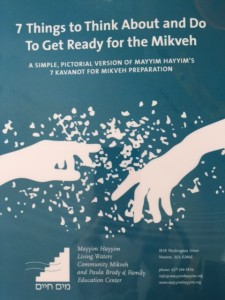 A Simple, Pictorial Version of Mayyim Hayyim's 7 Kavanot for Mikveh Preparation